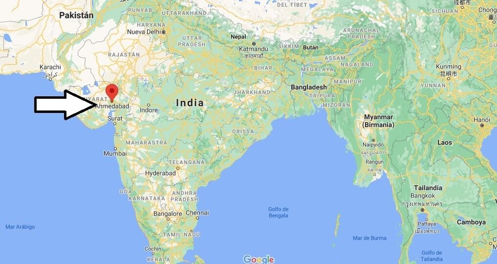 ¿Dónde está Ahmedabad