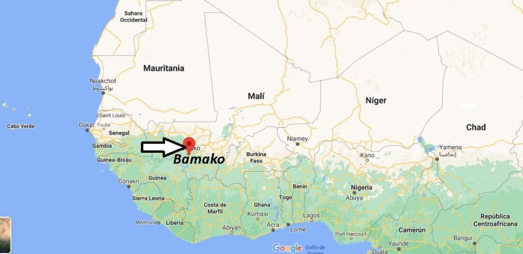 ¿Dónde está Bamako