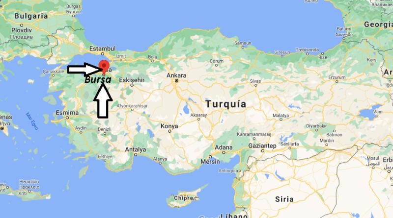¿Dónde está Bursa