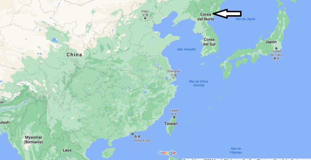 ¿Dónde está Corea del Norte