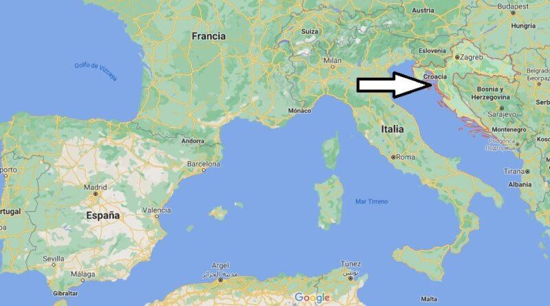 ¿Dónde está Croacia