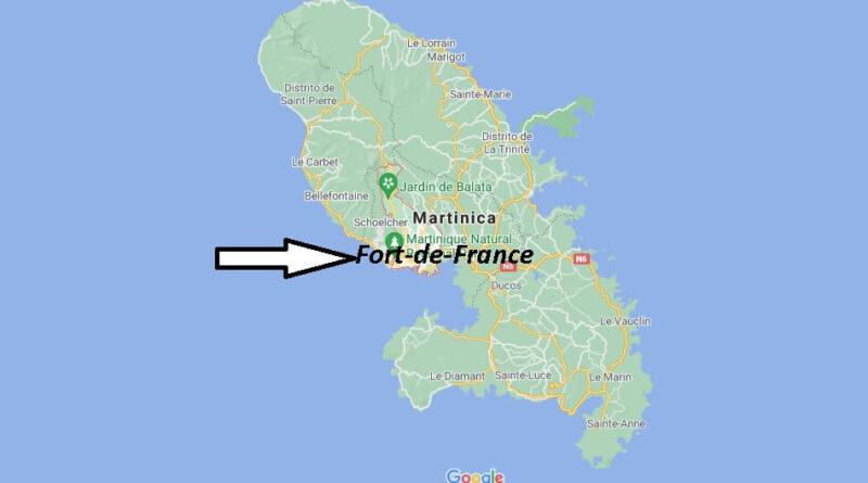 ¿Dónde está Fort-de-France