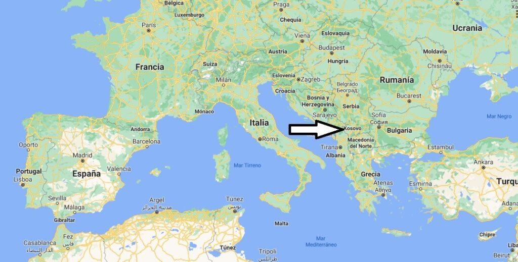 ¿Dónde está Kosovo