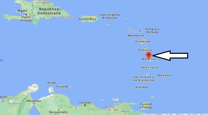 ¿Dónde está Martinica