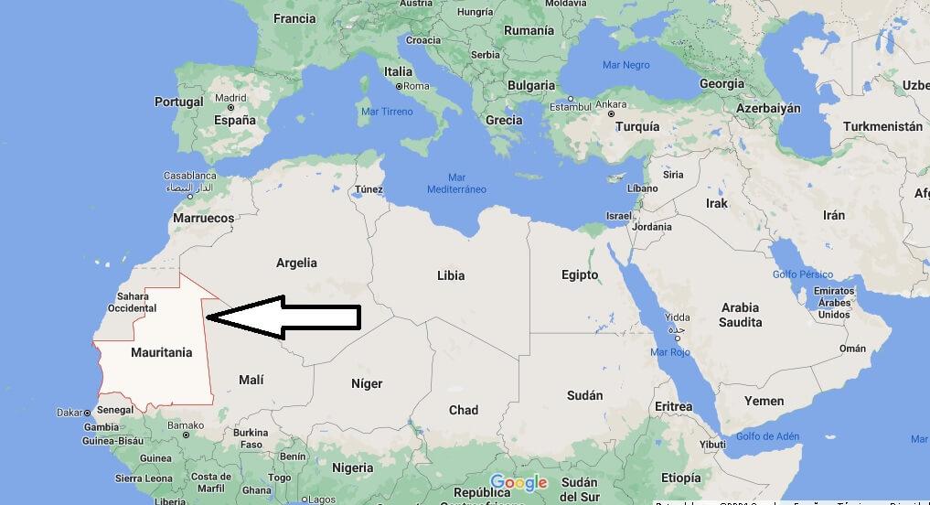 ¿Dónde está Mauritania