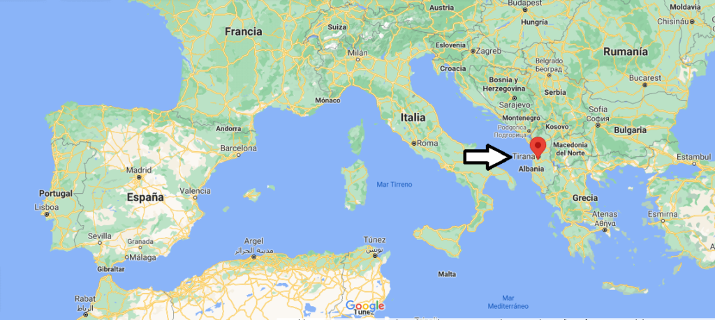 ¿Dónde está Tirana