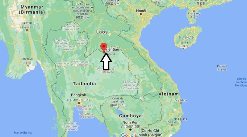 ¿Dónde está Vientiane