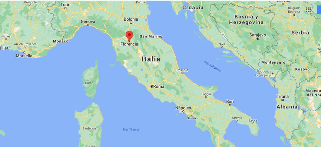 ¿Dónde está ubicada la ciudad de Florencia