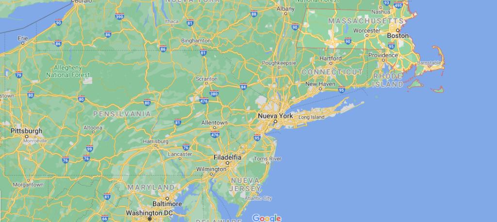 ¿Dónde está ubicada la ciudad de Massachusetts