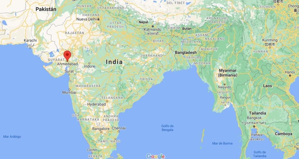 ¿Dónde queda Ahmedabad