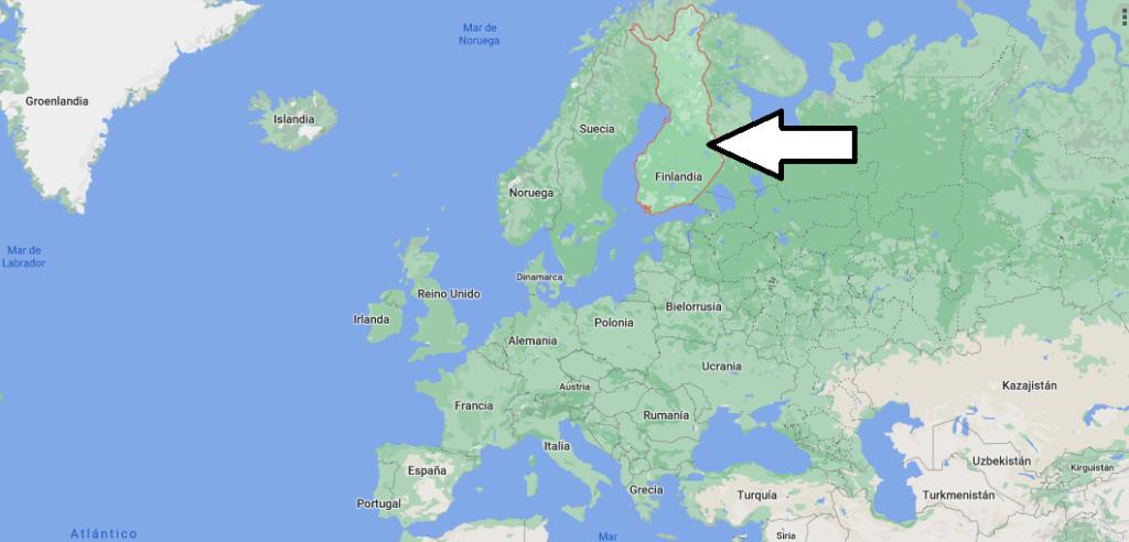 ¿Dónde queda Finlandia