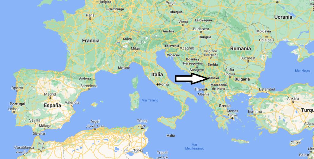 ¿Dónde queda Kosovo