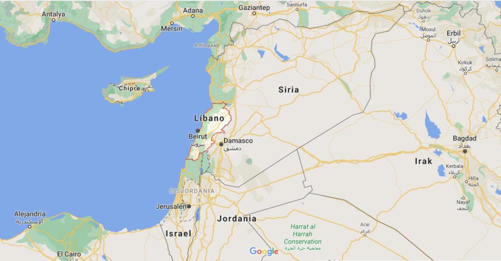 ¿Dónde queda Líbano