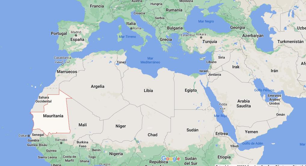 ¿Dónde queda Mauritania