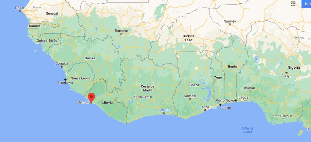 ¿Dónde queda Monrovia