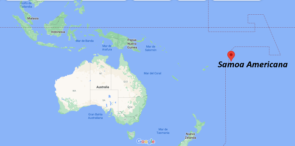 ¿Dónde queda Samoa Americana