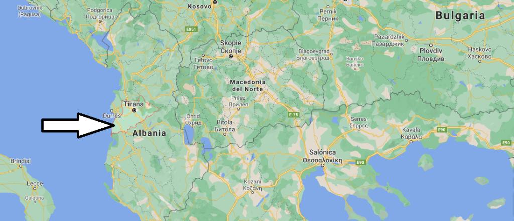 ¿Dónde queda Tirana