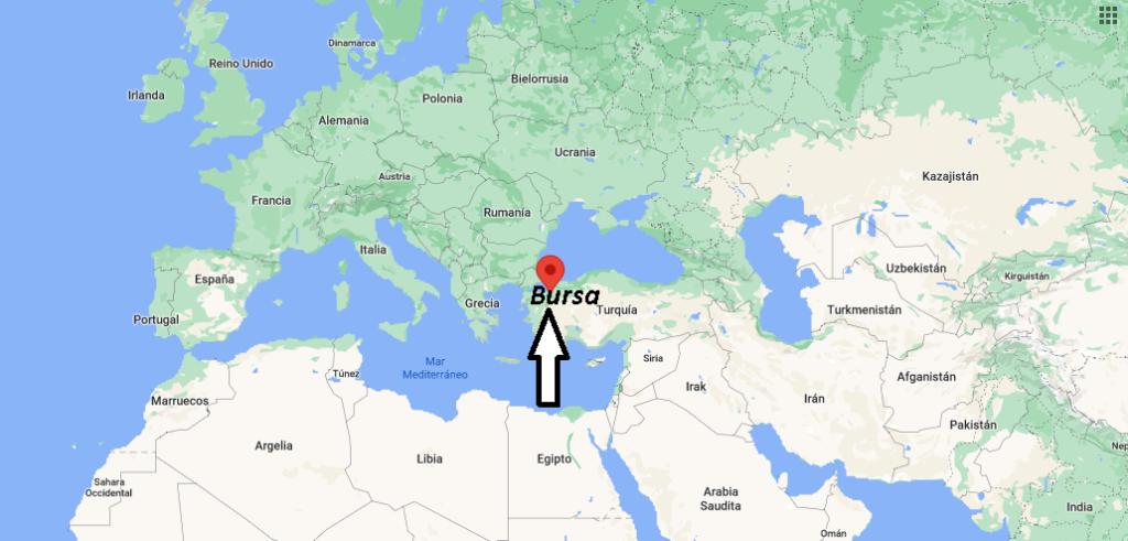 ¿Dónde queda la ciudad de Bursa