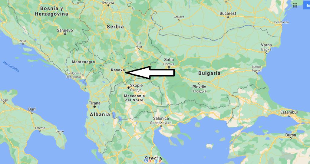 ¿Dónde se encuentra ubicado el país de Kosovo