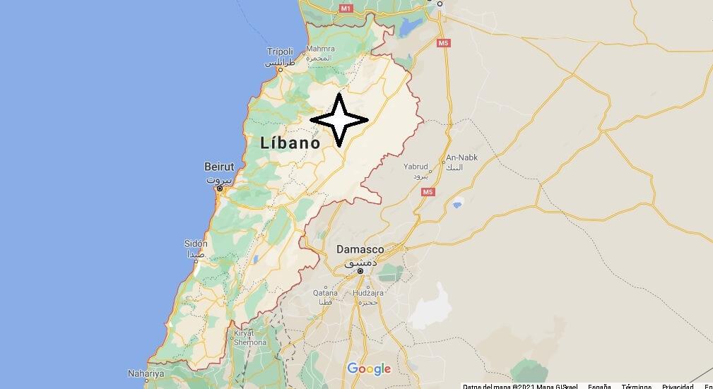 ¿Qué países están cerca de Libano