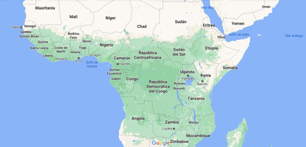 ¿Qué países están en África Central