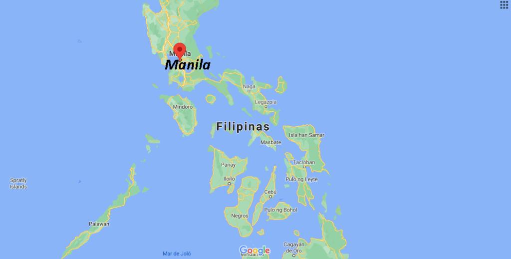 ¿Cuál es el país de Manila y su continente