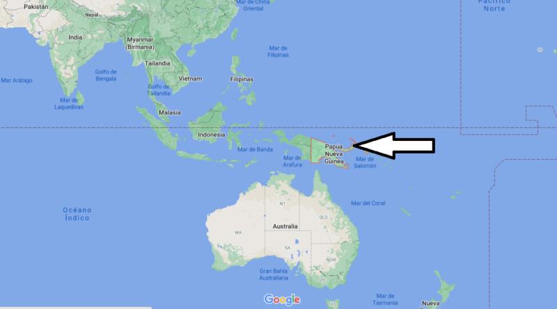 ¿Dónde está Papúa Nueva Guinea