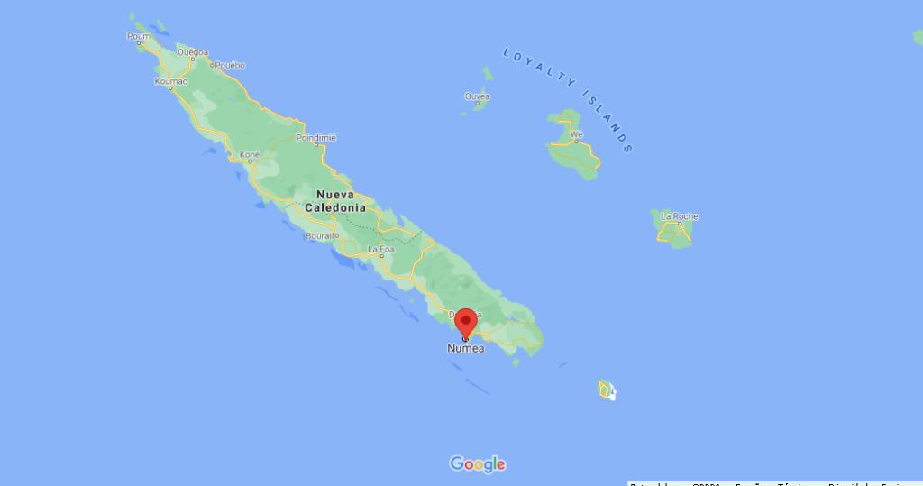 ¿Dónde está la isla de Numea