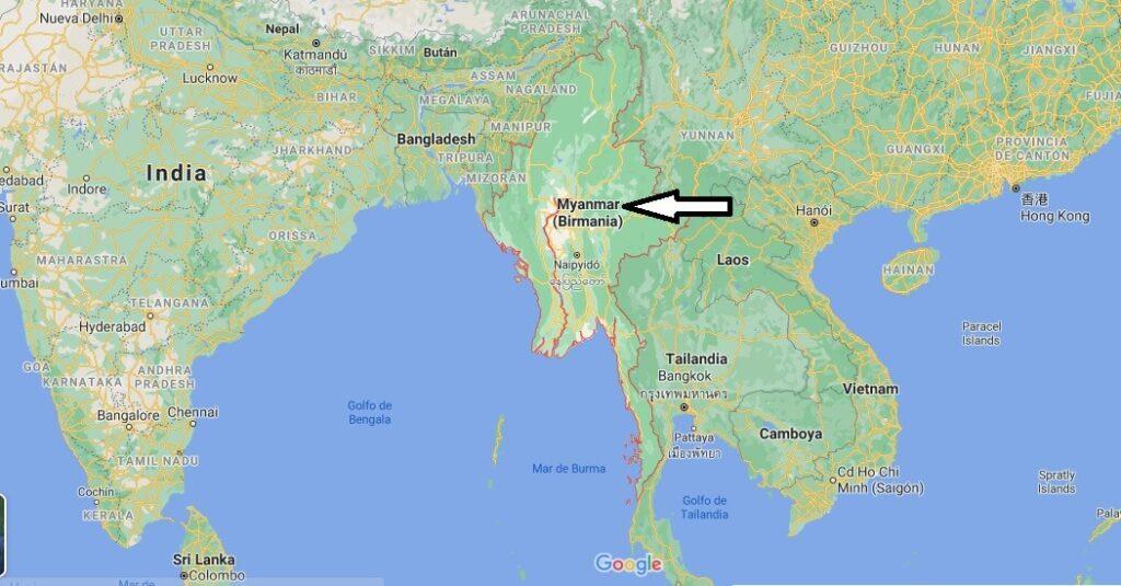 ¿Dónde queda Birmania