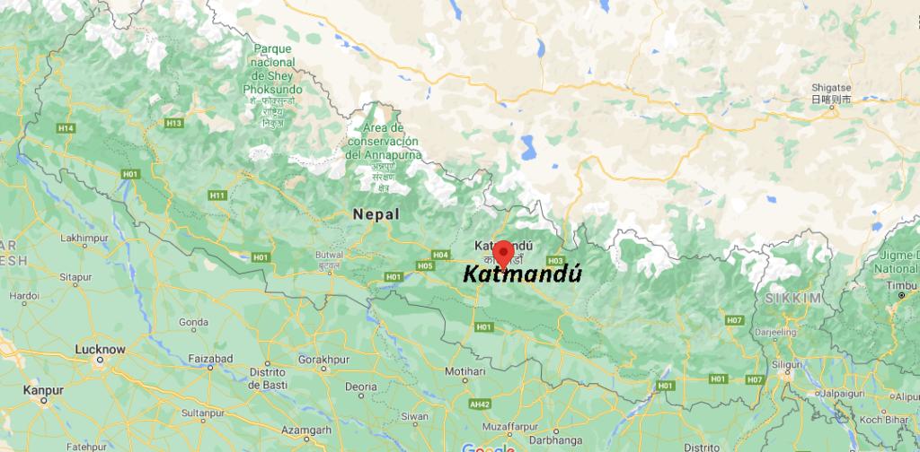 ¿Dónde queda Katmandú
