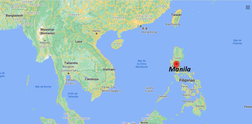 ¿Dónde queda Manila