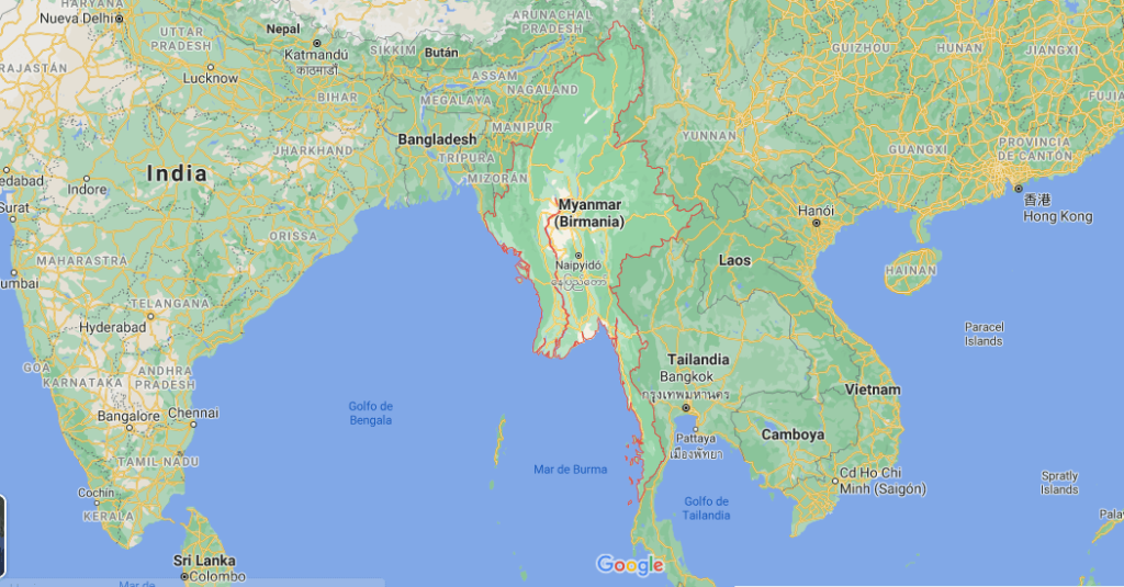 ¿Dónde se encuentra ubicado Birmania