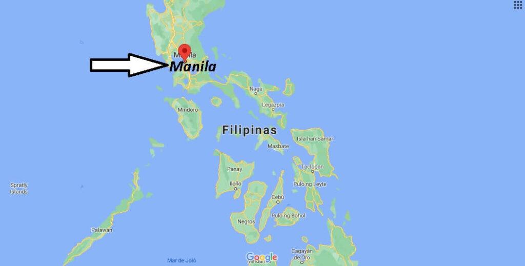 ¿Dónde se ubica Manila