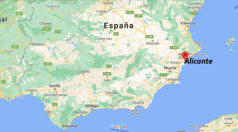 ¿Dónde está Alicante