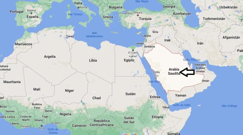 ¿Dónde está Arabia Saudita