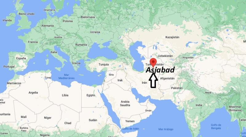 ¿Dónde está Asjabad