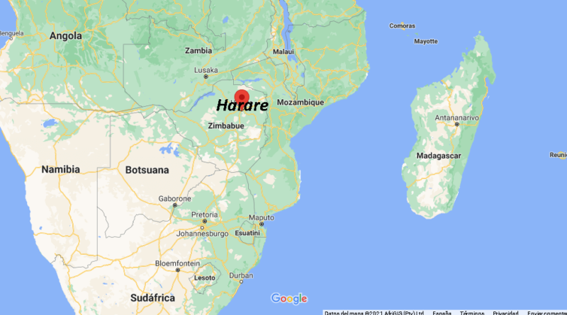 ¿Dónde está Harare