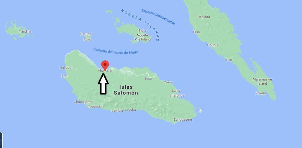 ¿Dónde está Honiara