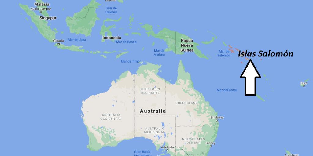¿Dónde está Islas Salomón