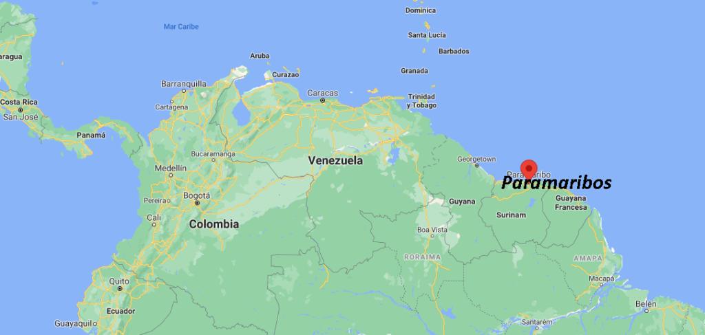 ¿Dónde está Paramaribo