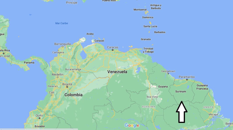 ¿Dónde está Suriname