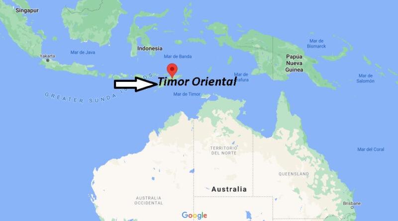 ¿Dónde está Timor Oriental
