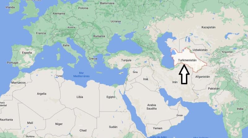 ¿Dónde está Turkmenistán