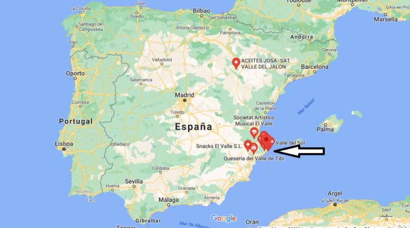 ¿Dónde está Valle de Jalón