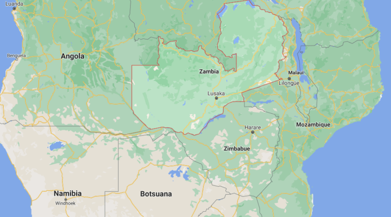 ¿Dónde está Zambia