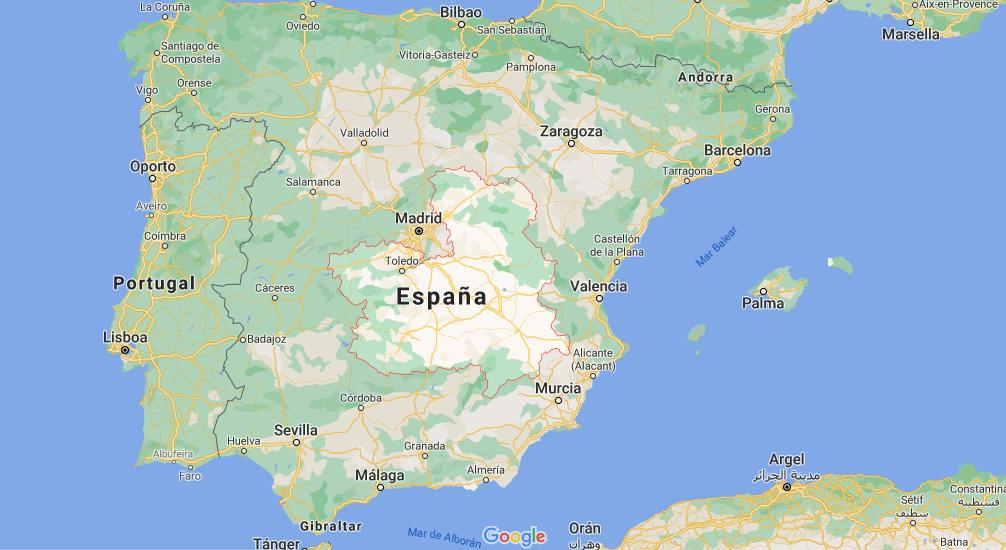 ¿Dónde queda Castilla-La Mancha