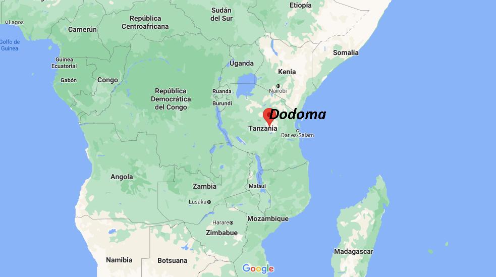¿Dónde queda Dodoma