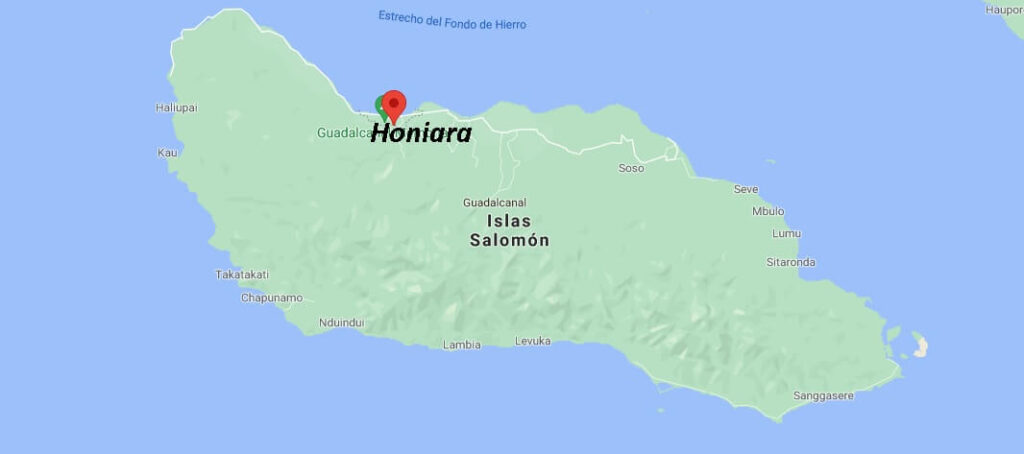 ¿Dónde queda Honiara