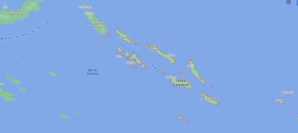 ¿Dónde queda Islas Salomón