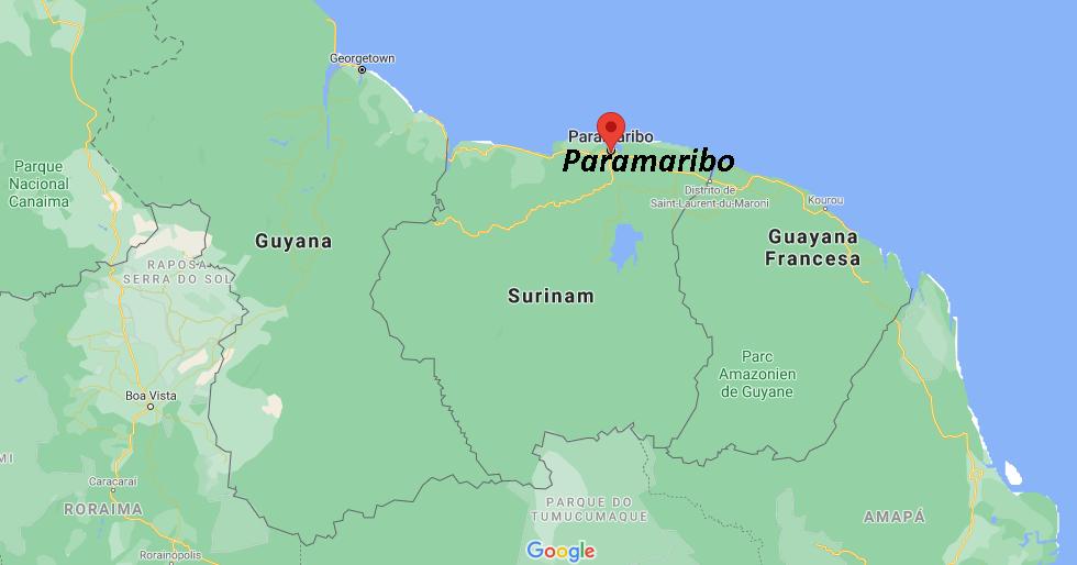 ¿Dónde queda Paramaribo